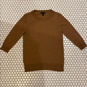 JCrew 100% Merino Wool Camel Crew Neck Sweater